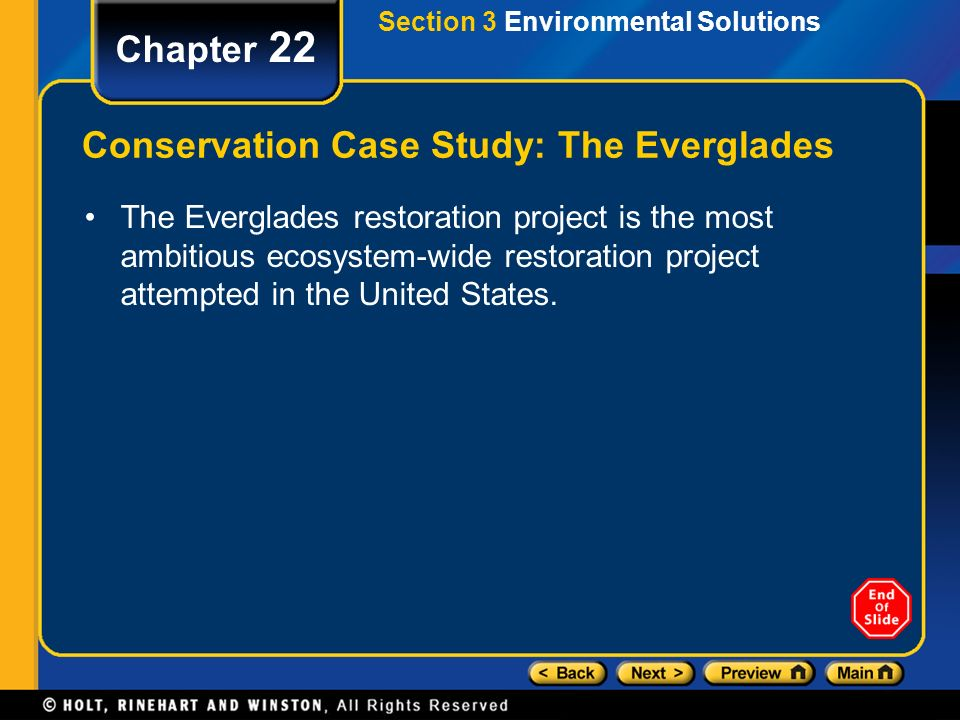 Conservation Case Study: The Everglades