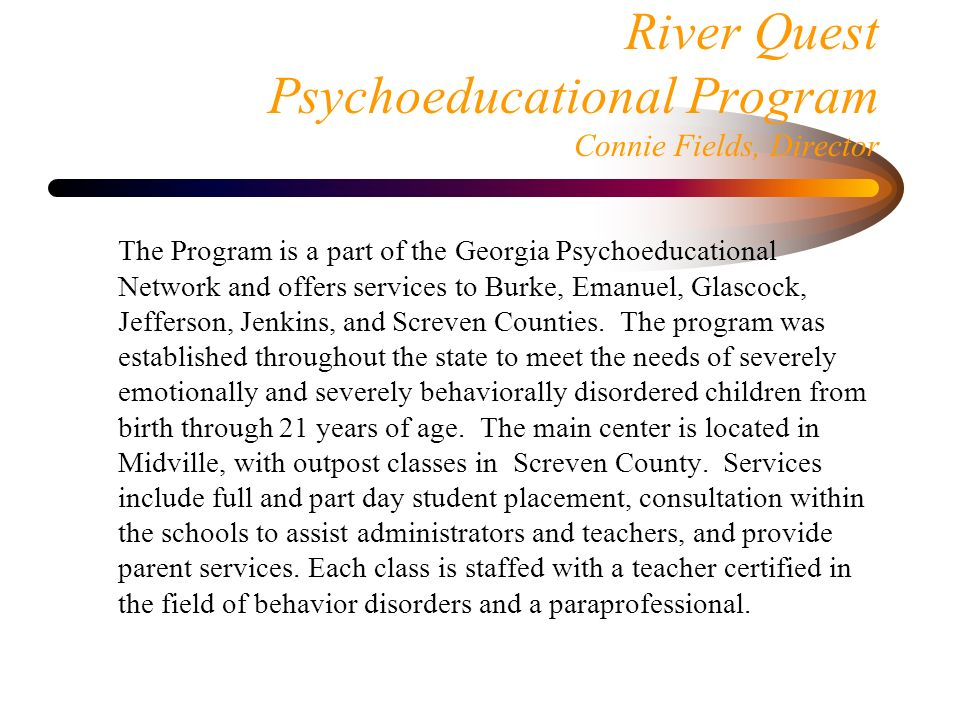 Georgia Psychoeducational Students >> Dr Terry L Nelson Executive Director Ppt Download