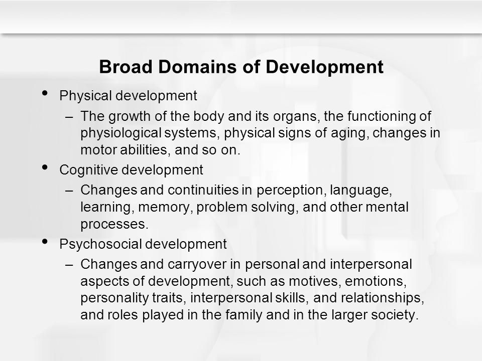 Chapter 1 understanding life span human development ppt video broad domains of development fandeluxe Images