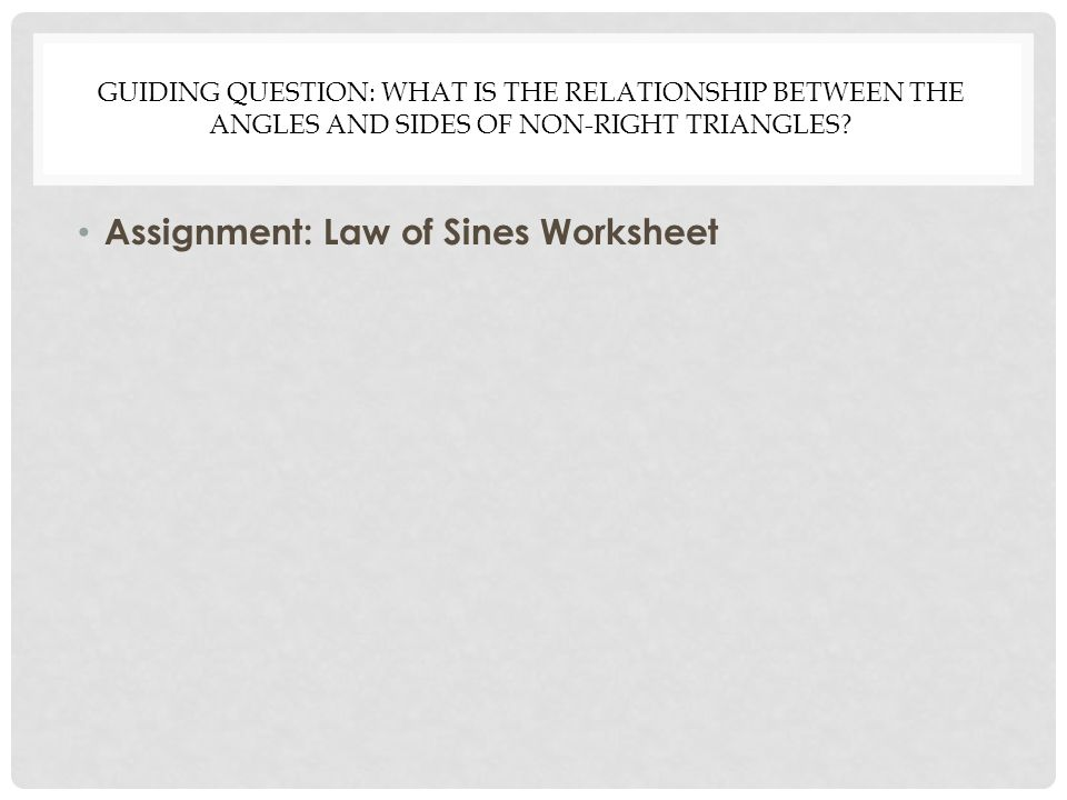 Law Of Sines Apply The Trigonometric Ratios Sine Cosine And Tangent. Assignment Law Of Sines Worksheet. Worksheet. Law Of Sines Worksheet At Mspartners.co