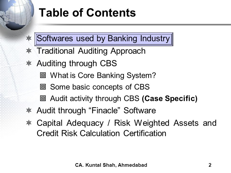 Bank Branch Audit under Core Banking System - ppt video