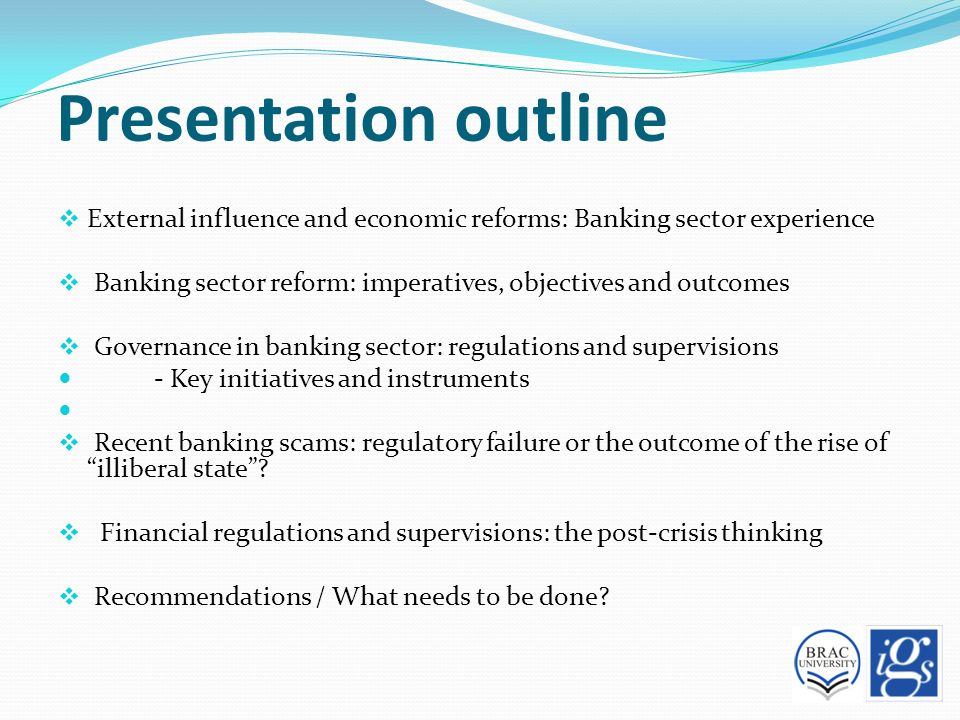 Banking Sector Governance: Reforms and Impacts - ppt video