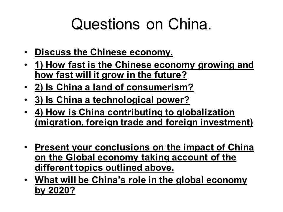 impact of globalization on china