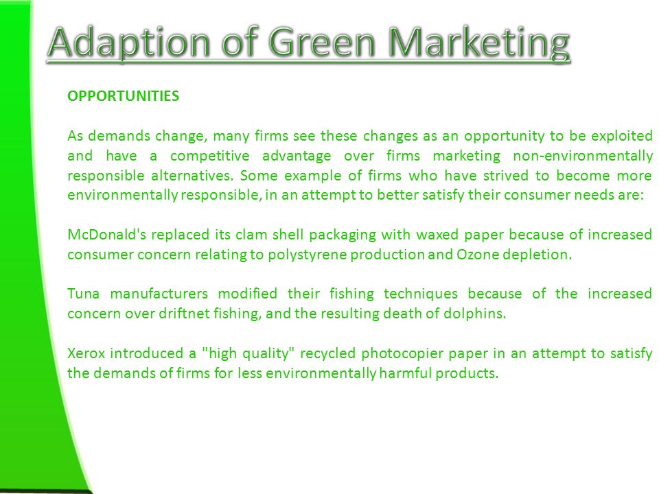 green it examples