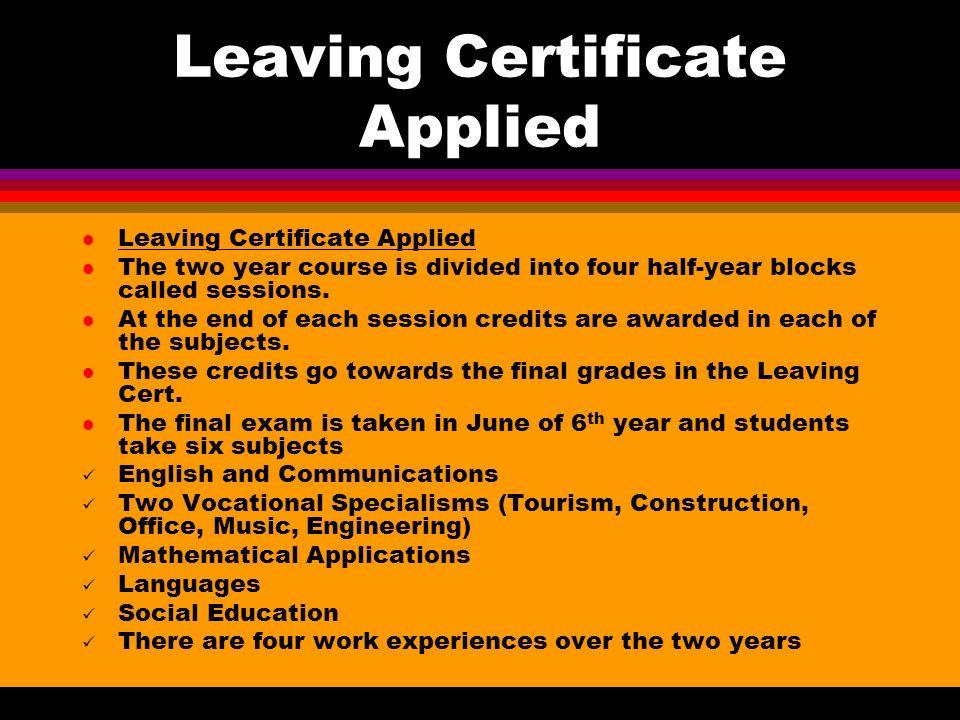 Beyond Junior Cert 4 Options Leaving Certificate Ppt Download