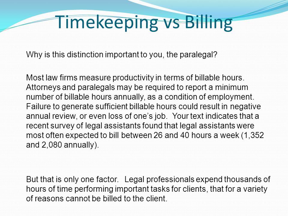 pa 305 law office management unit 6 seminar billable hours ppt