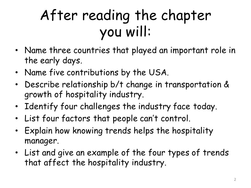 importance of transportation in hospitality industry
