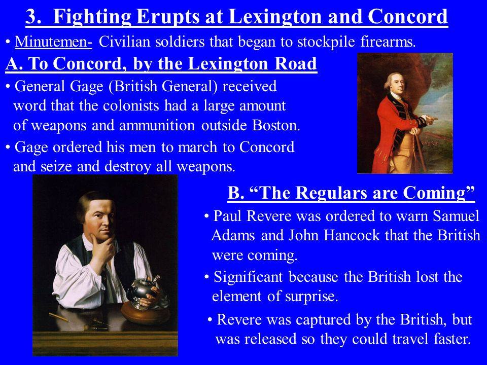 3. Fighting Erupts at Lexington and Concord