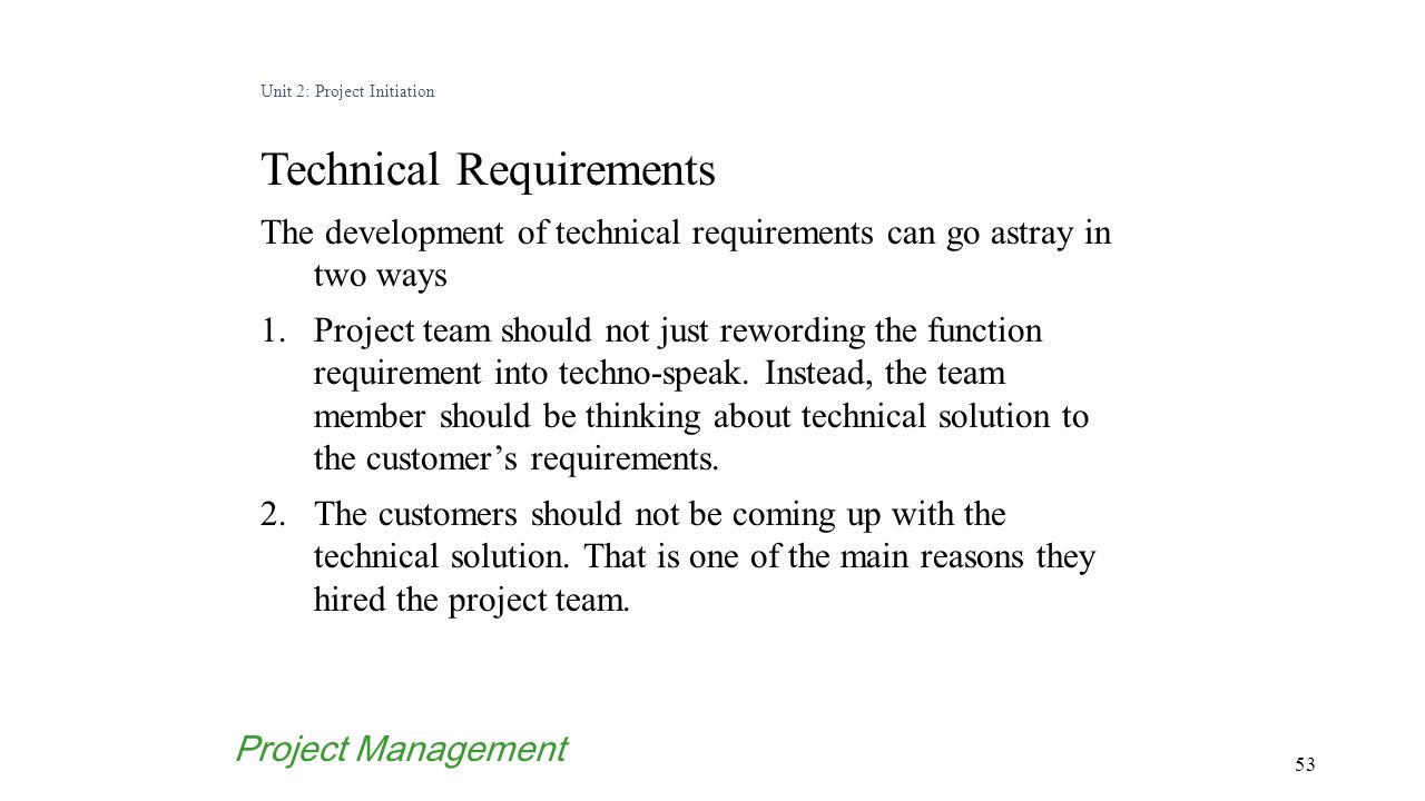Project Management And Case Study Ppt Download - Technical requirements project management