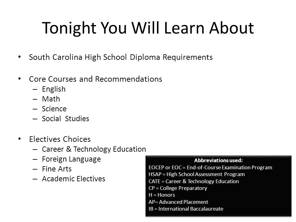 2 Tonight You Will Learn About South Carolina High School Diploma ...