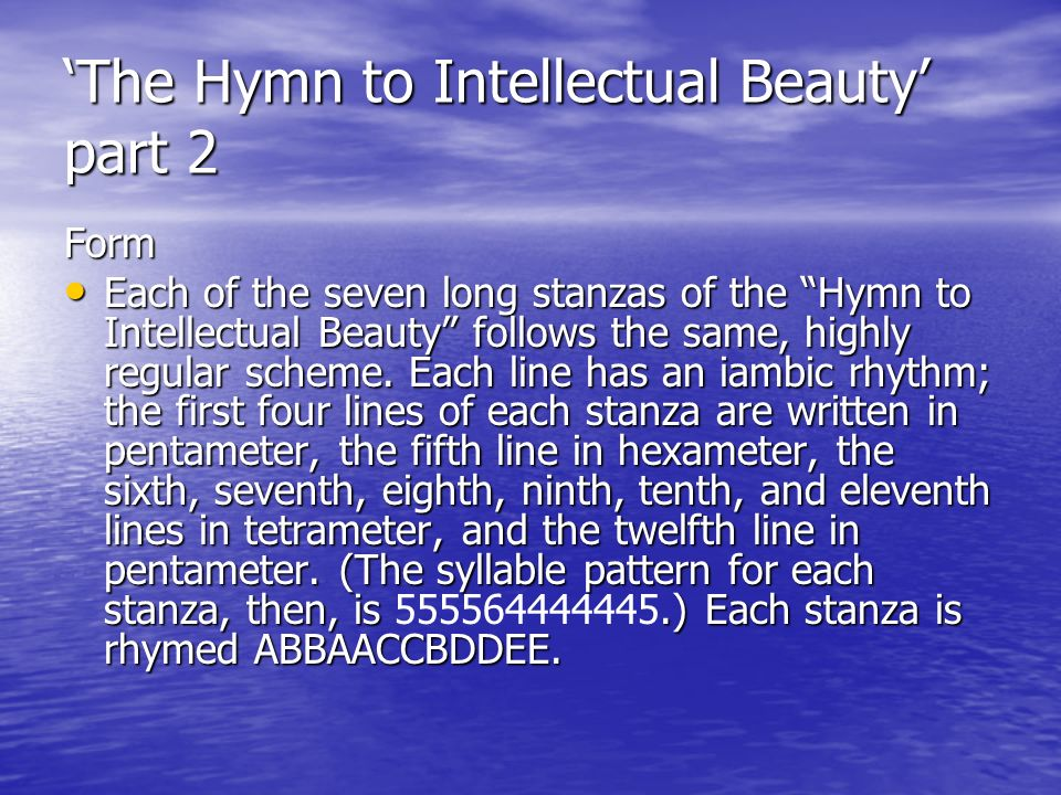 hymn to intellectual beauty