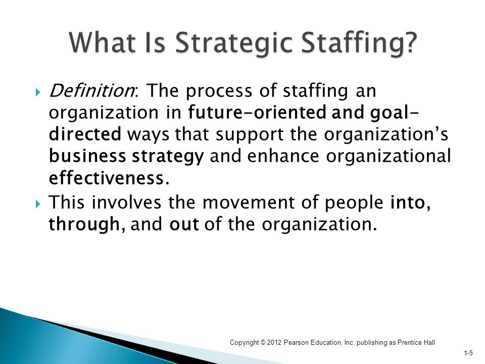 staffing strategy Appreciate the importance of staffing strategy, and review the 13 decisions that staffing strategy requires realize the importance of ethics in staffing, and learn how.
