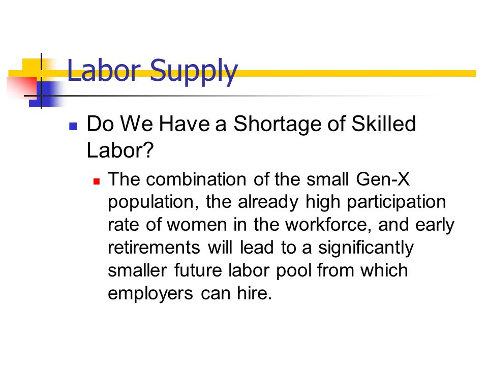 Labor Supply Do We Have a Shortage of Skilled Labor