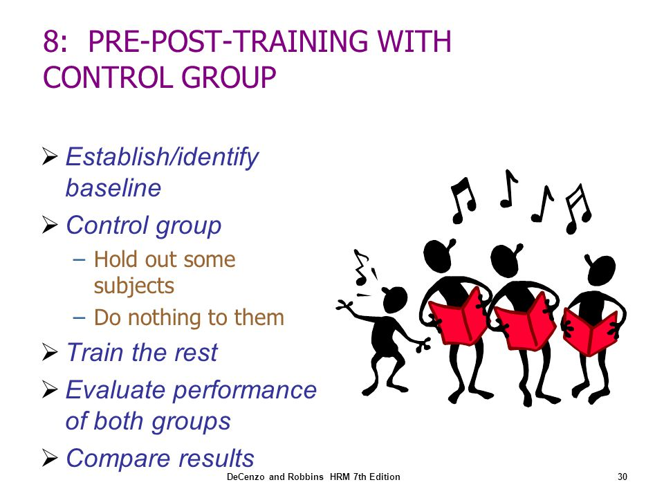 8: PRE-POST-TRAINING WITH CONTROL GROUP