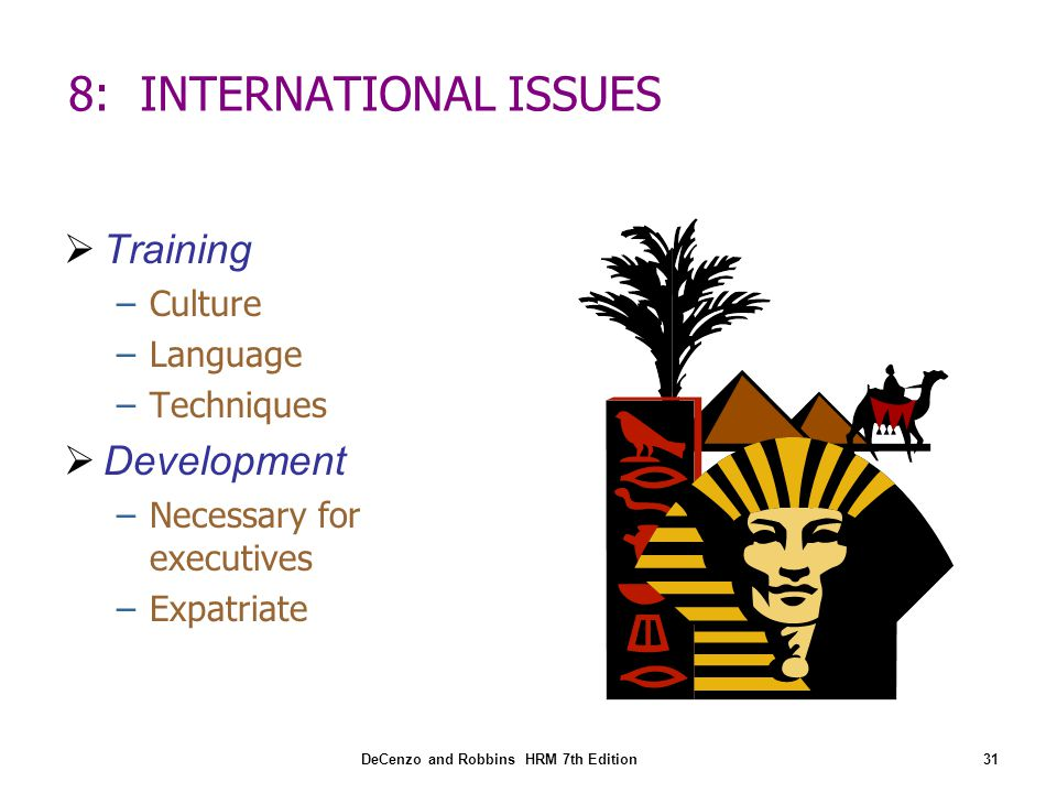 8: INTERNATIONAL ISSUES