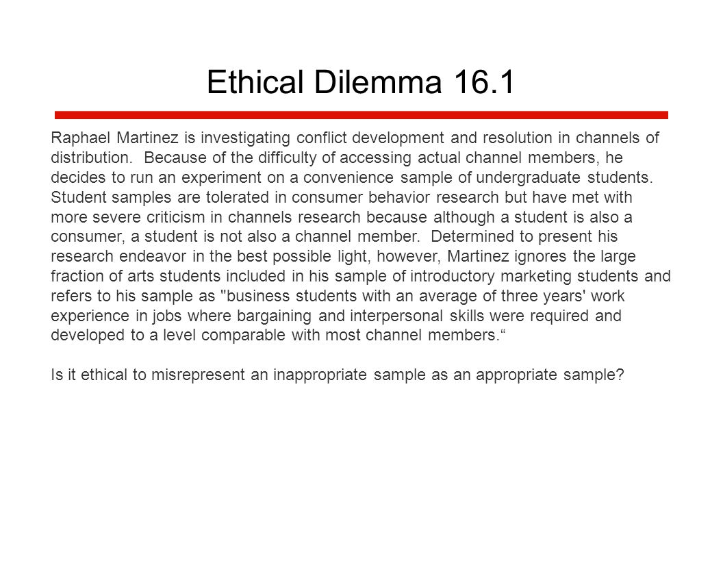 example of an ethical dilemma in business