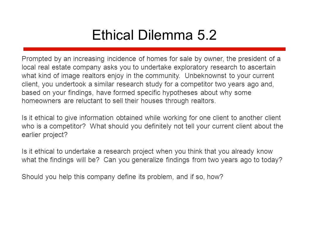 define what is meant by the term ethical dilemma