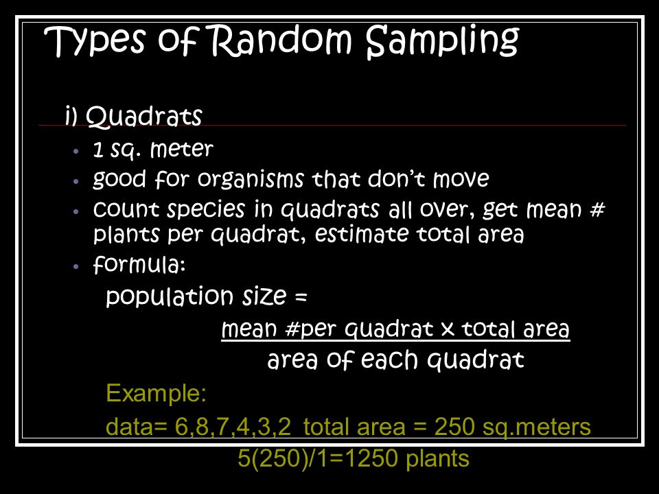 Types of Random Sampling