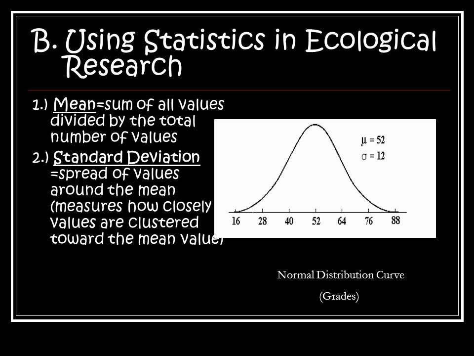 Using Statistics in Ecological Research