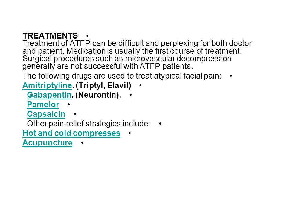 atypical facial pain Capsaicin