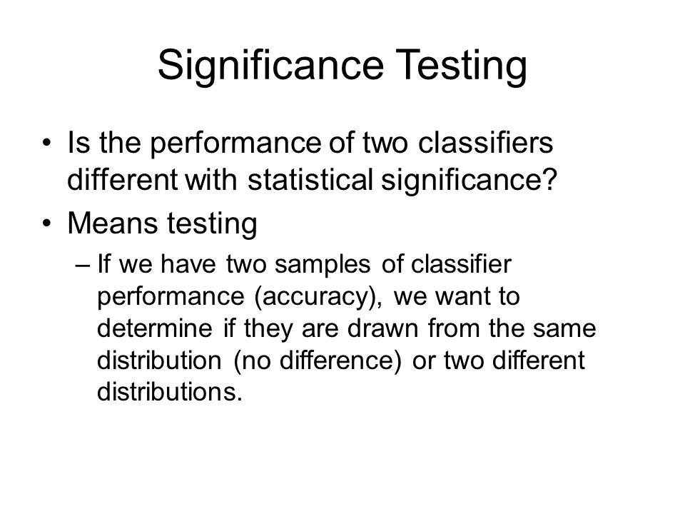 T-test One Sample t-test Independent t-test