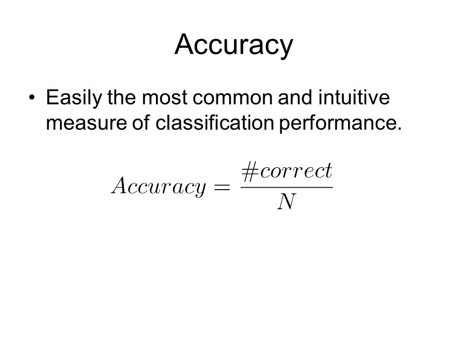 Significance testing Say I have two classifiers. A = 50% accuracy