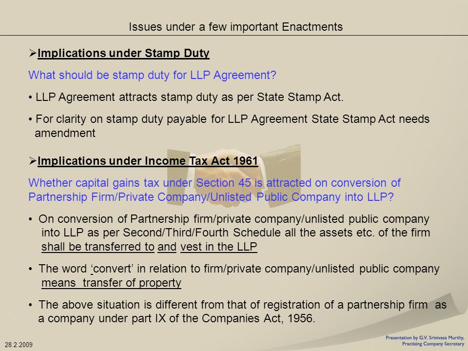 The Limited Liability Partnership Act Ppt Download