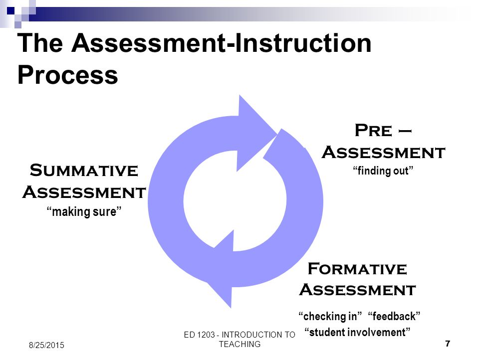 The Assessment-Instruction Process