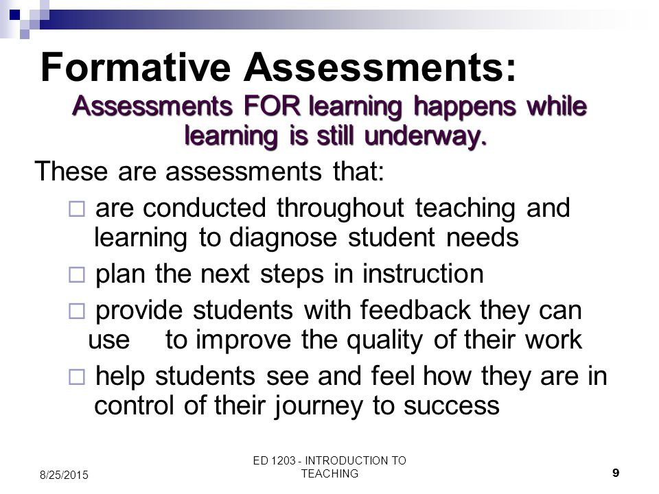 Formative Assessments: