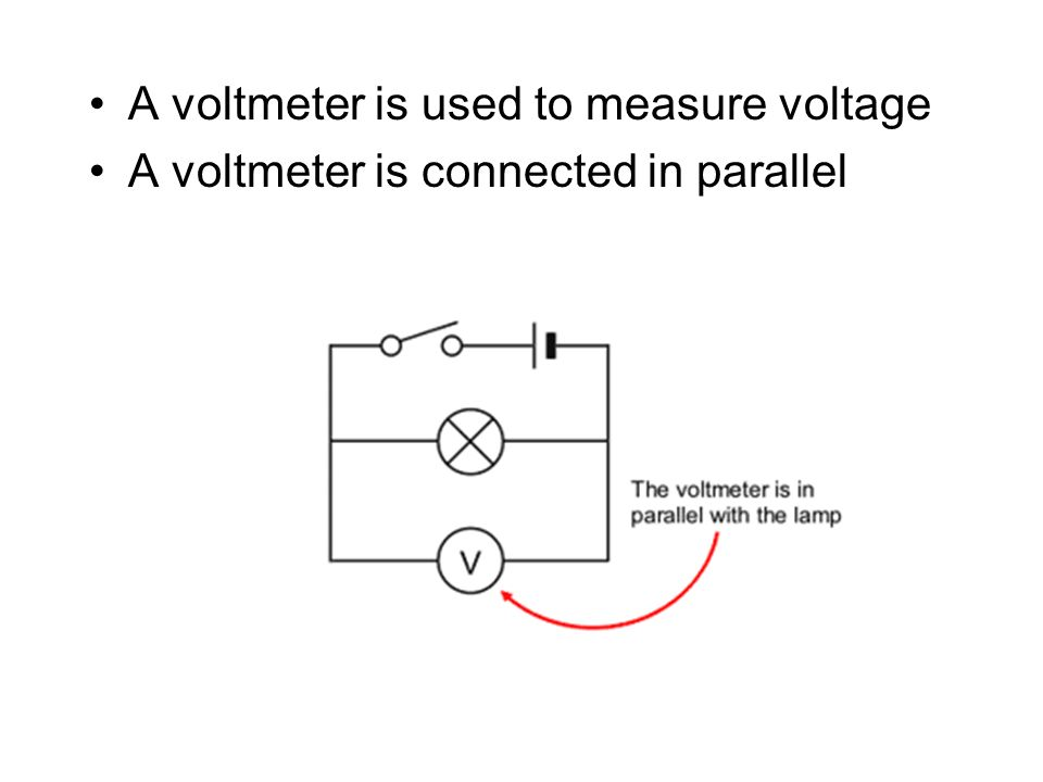 A voltmeter is used to measure voltage