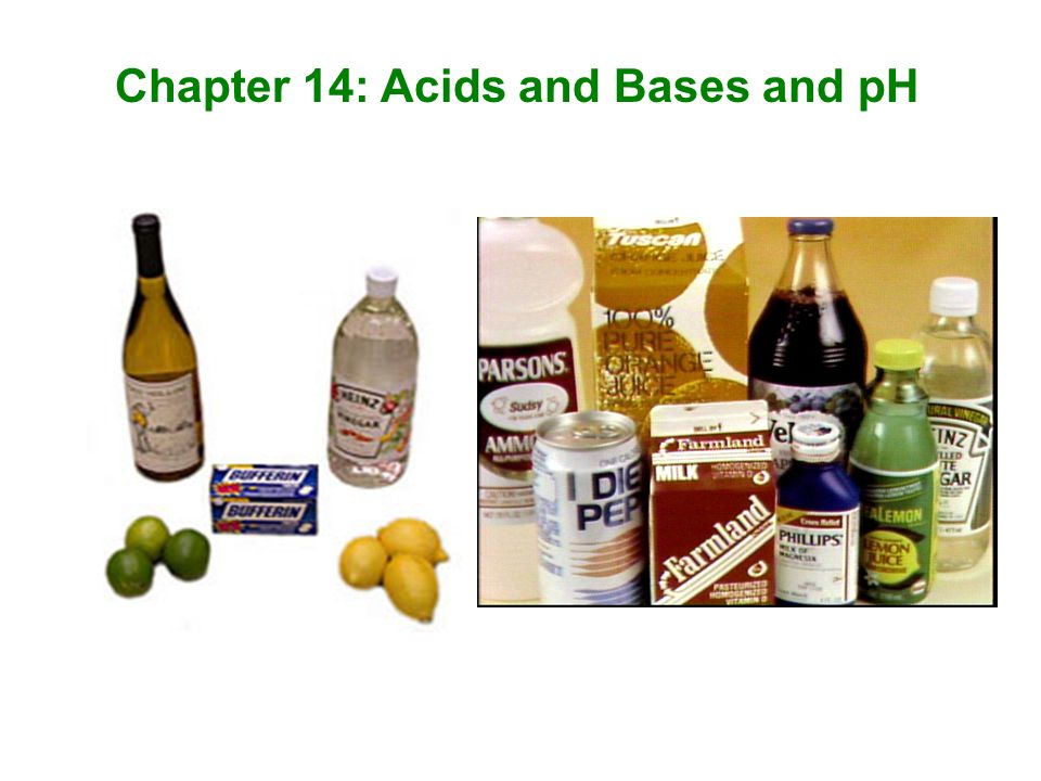 Chapter 14: Acids and Bases and pH