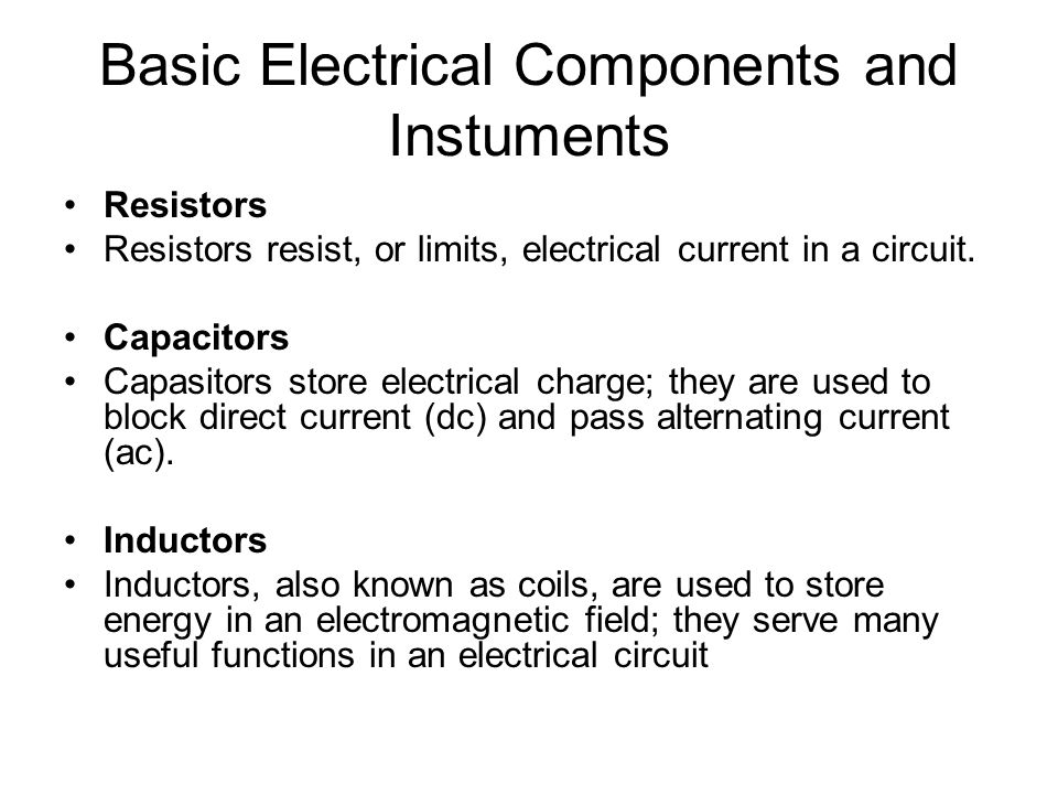 Contemporary Functions Of Electrical Components Embellishment ...