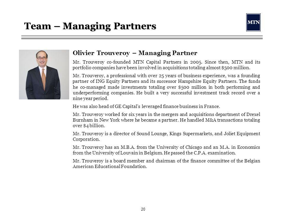 MTN Capital Partners LLC - ppt download