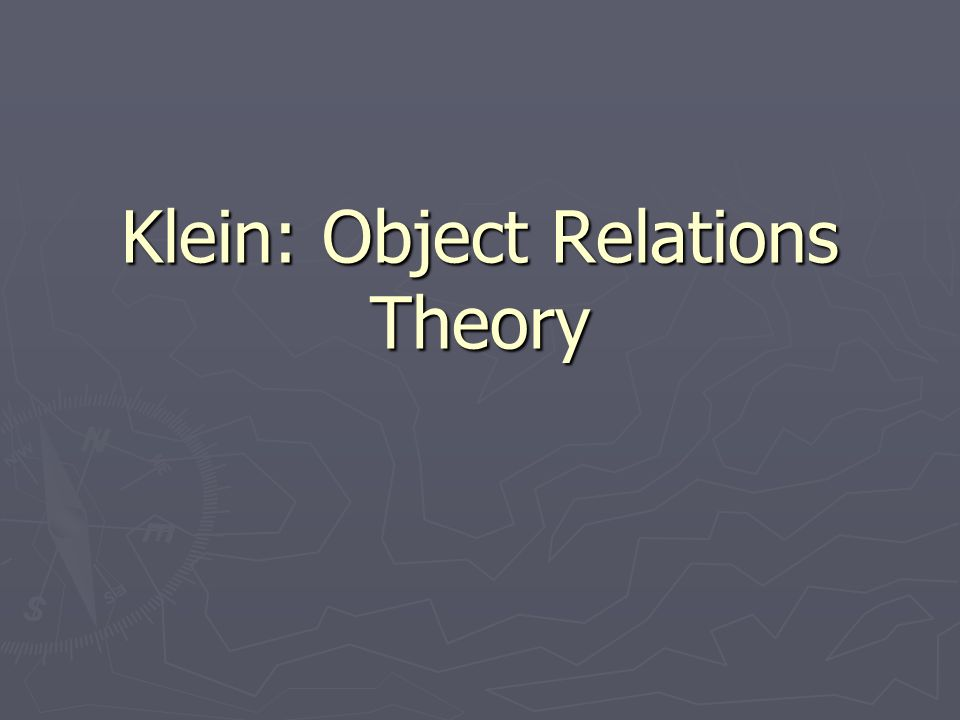 Kleins theory of sexuality