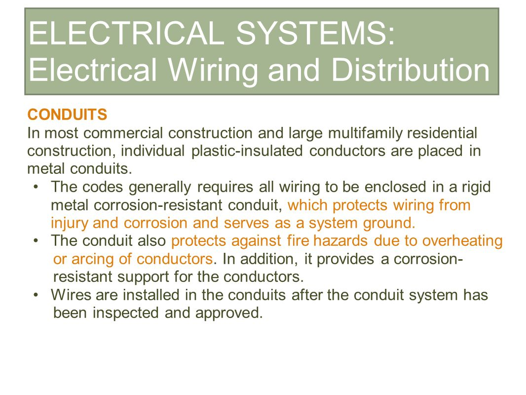 Construction And Materials Ii Ppt Download Electrical Wiring Numbering System 16 Systems Distribution