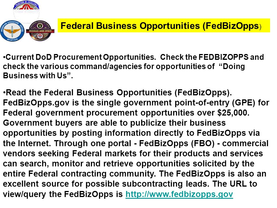 Federal Business Opportunities (FedBizOpps)