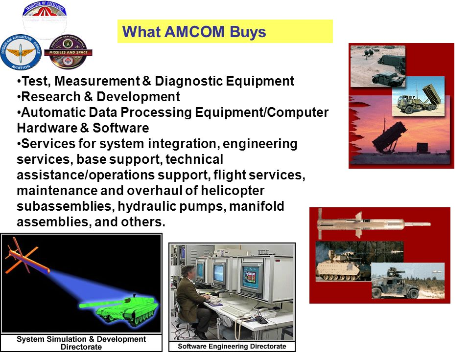 What AMCOM Buys Test, Measurement & Diagnostic Equipment