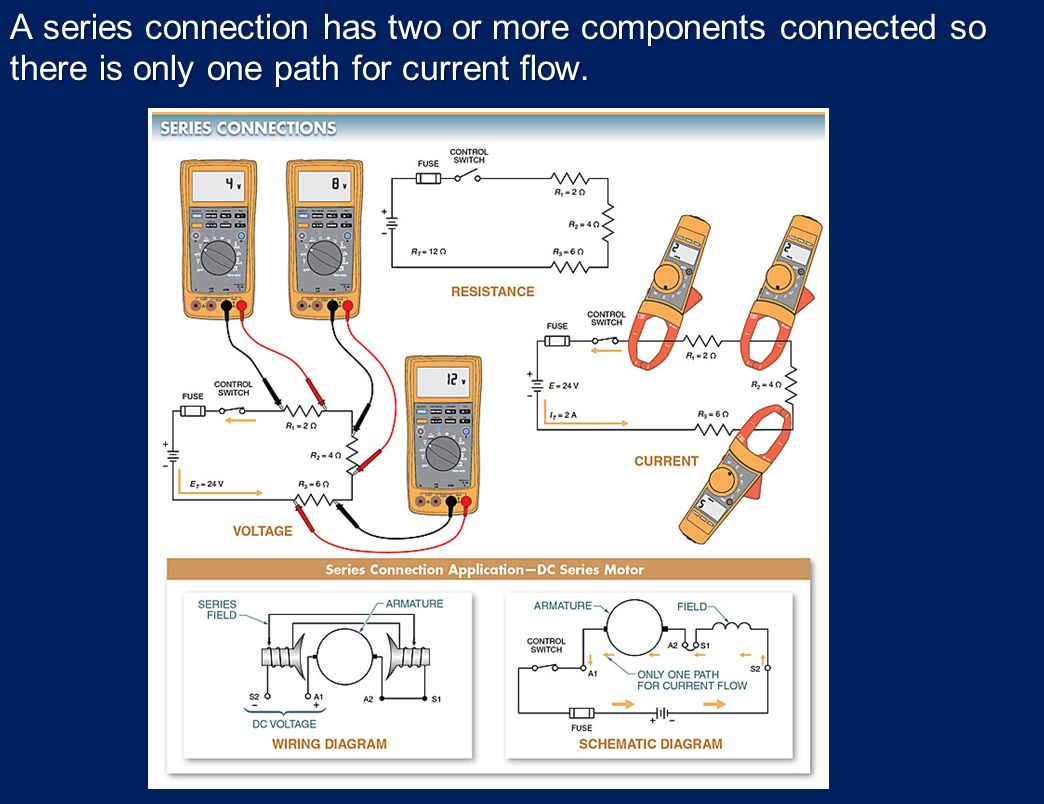 Electrical Quantities And Basic Circuits Ppt Download Once The Bias Is Set This Circuit Will Supply A Constant Current To Series Connection Has Two Or More Components Connected So There Only One Path For
