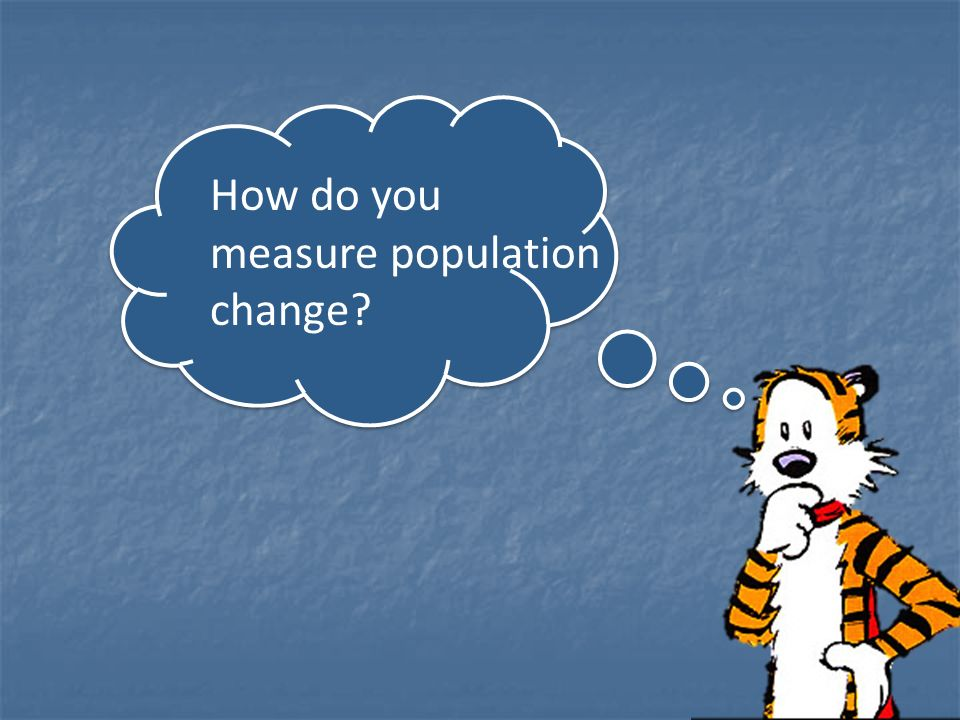 How do you measure population change