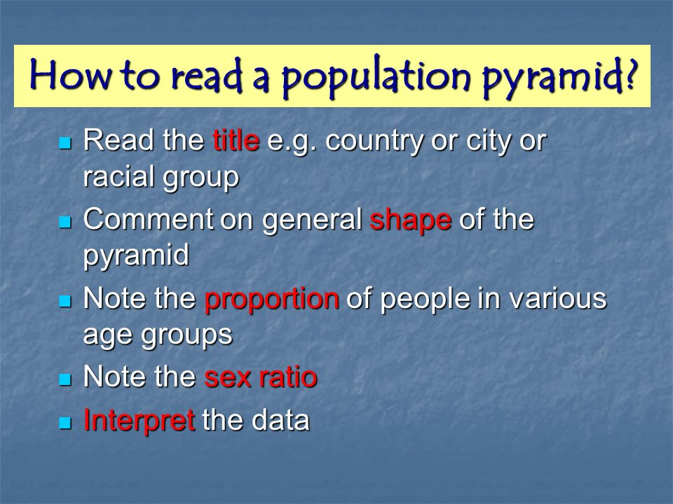 How to read a population pyramid