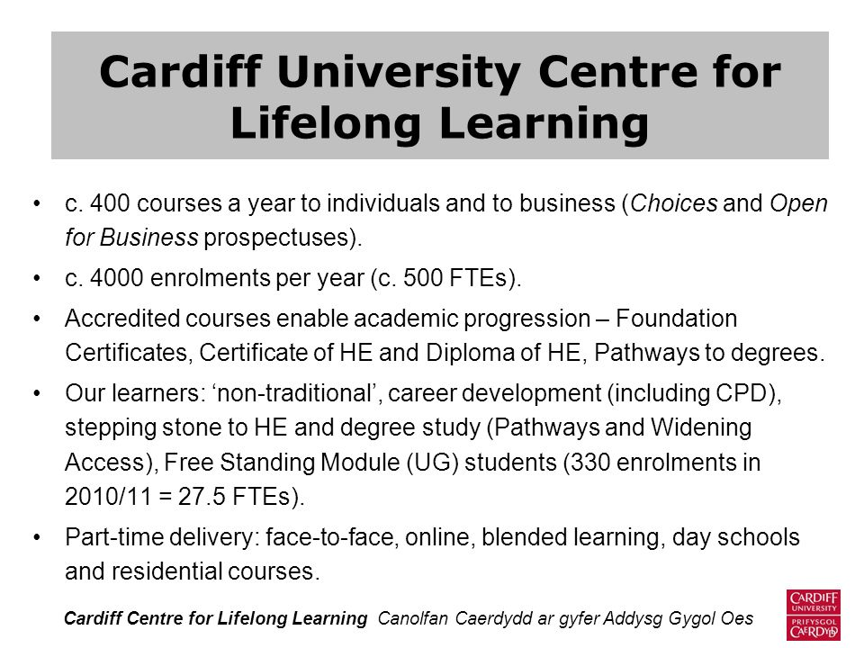 Cardiff University Centre for Lifelong Learning