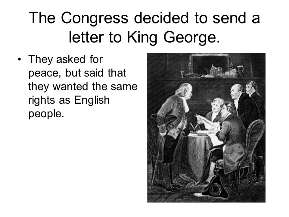 sending a letter to congress the american revolution ppt 11006