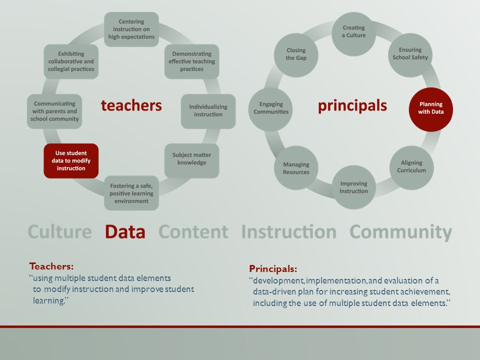 Teachers: Principals: using multiple student data elements
