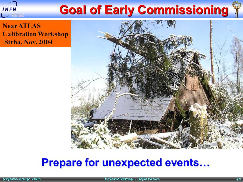 Goal of Early Commissioning