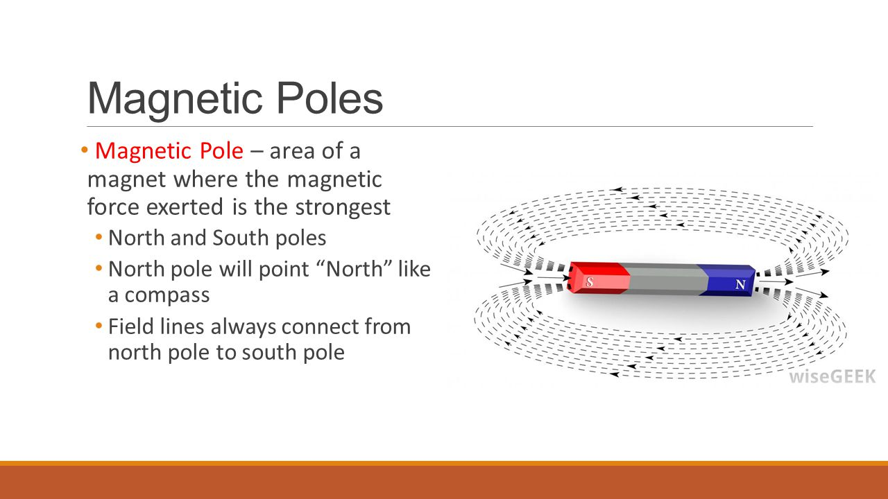 Magnetic Poles Magnetic Pole – area of a magnet where the magnetic force exerted is the strongest.