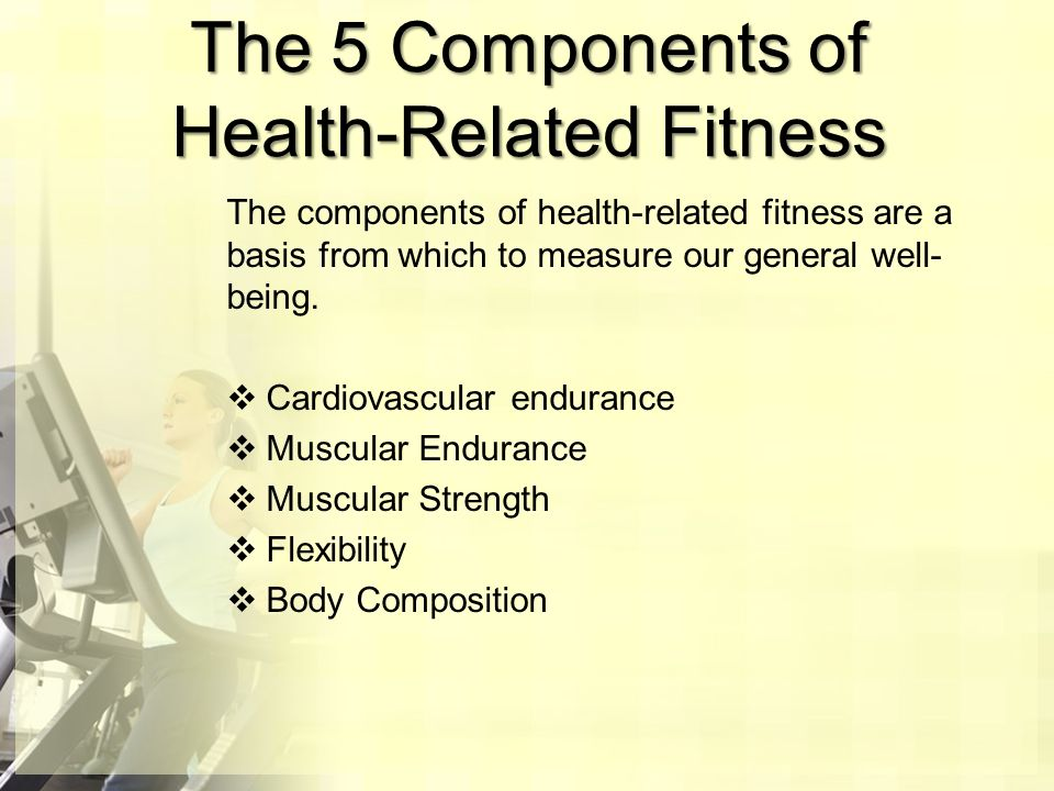 Components Of Fitness Ppt Video Online Download