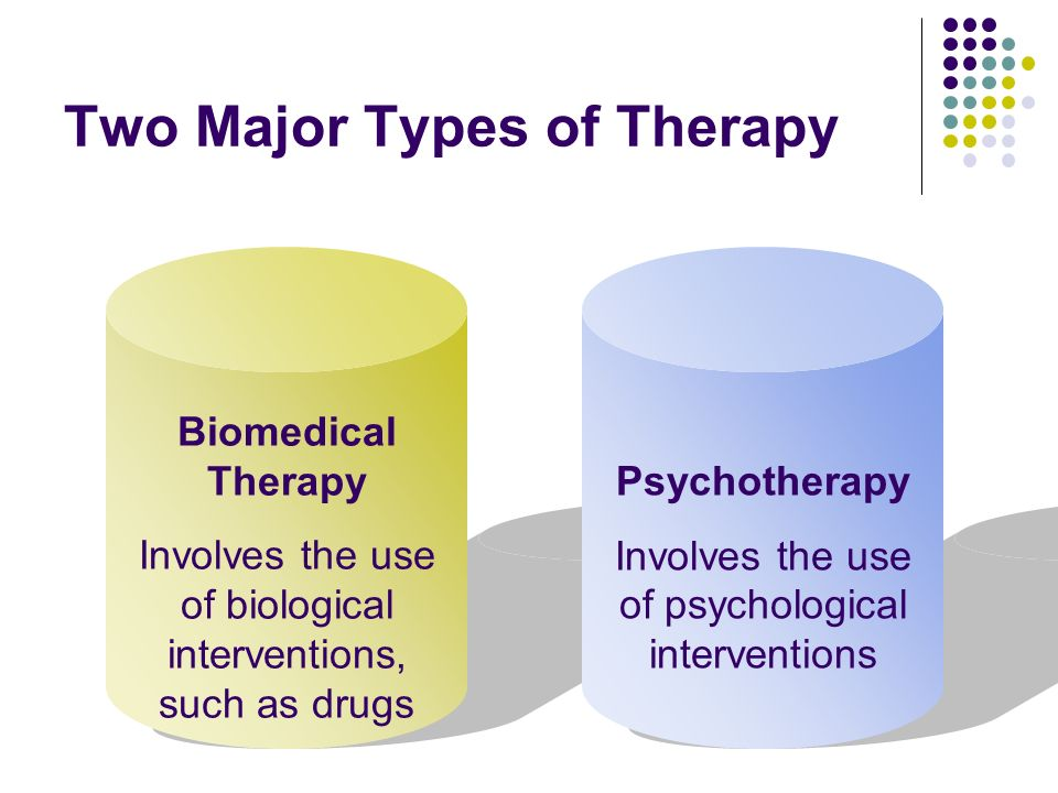 Two Major Types of Therapy