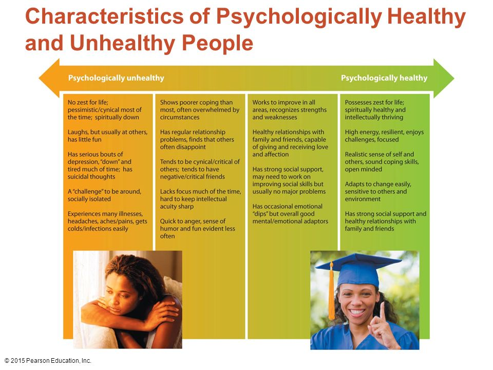 a psychologically healthy person is