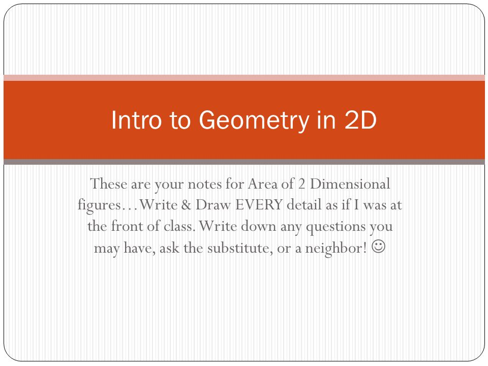Intro to Geometry in 2D