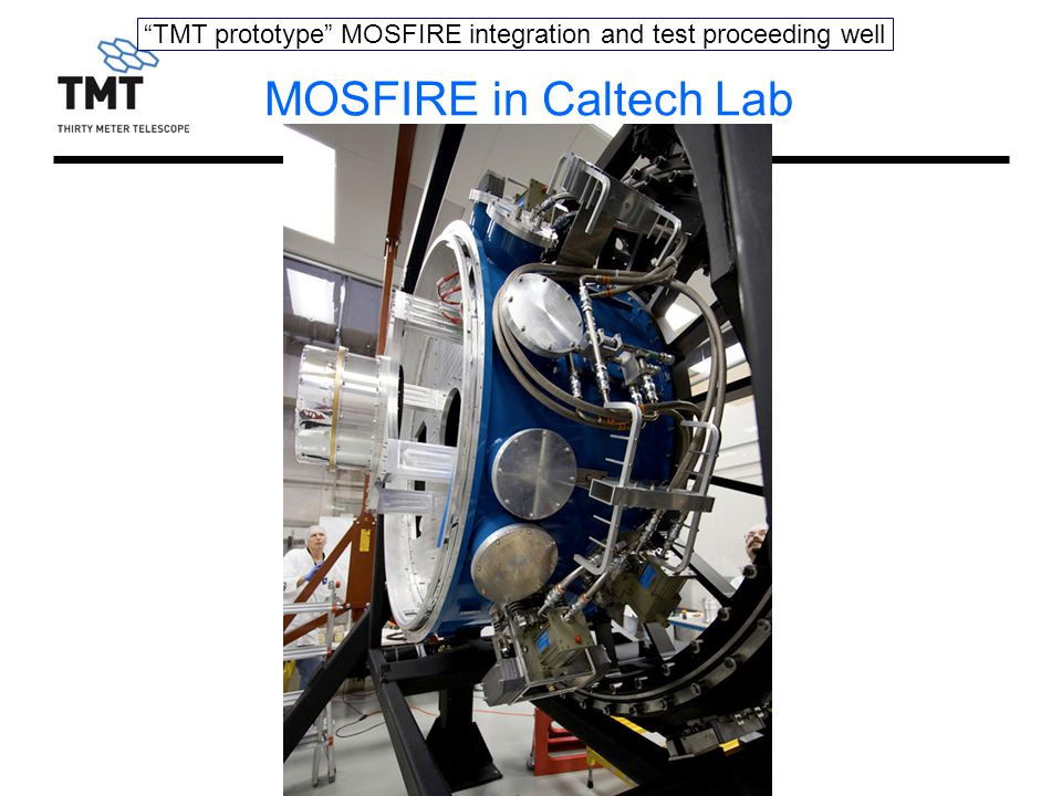 TMT prototype MOSFIRE integration and test proceeding well